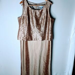 Jessica Howard formal raw silk look dress